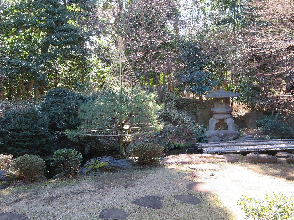 和館から眺められる「池泉庭園」