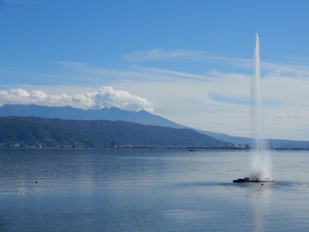 タイミング良く 間欠泉55mの噴出です