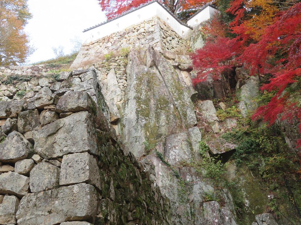 自然の岩の石垣