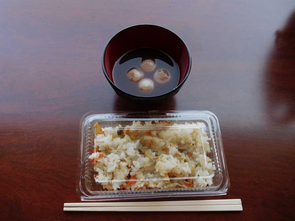 お汁粉と炊込みご飯