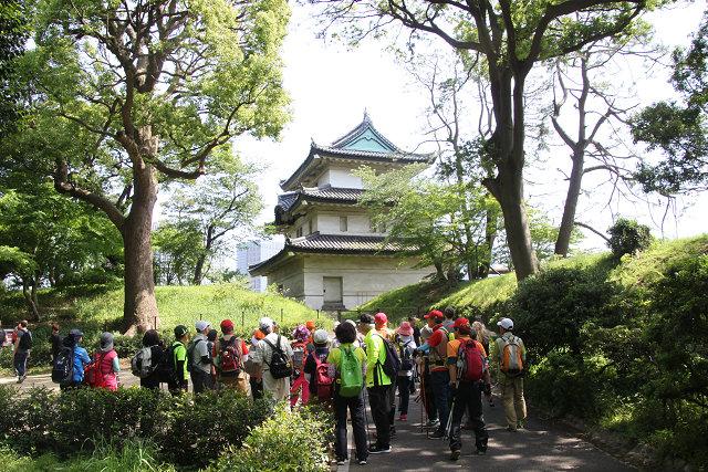 富士見櫓の解説を聴く