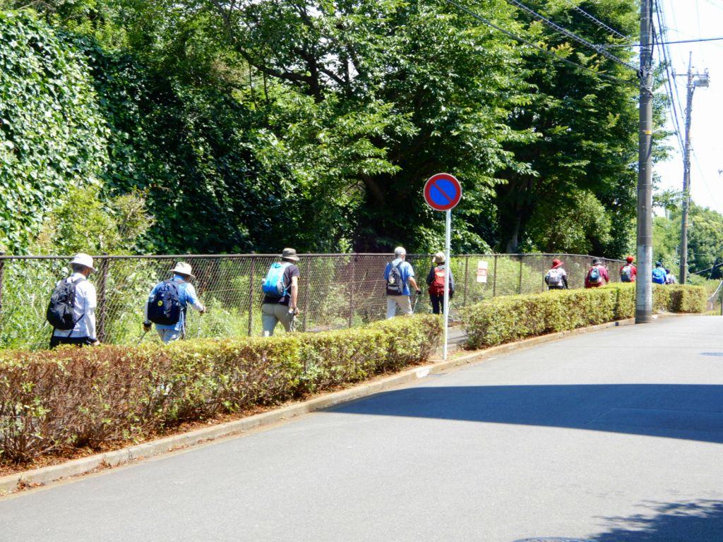 市ヶ尾舞蒔公園を向かって歩く