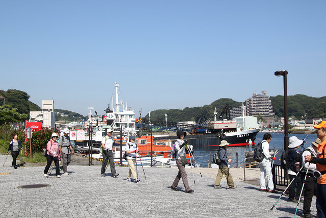 最初の休憩地 陸軍桟橋