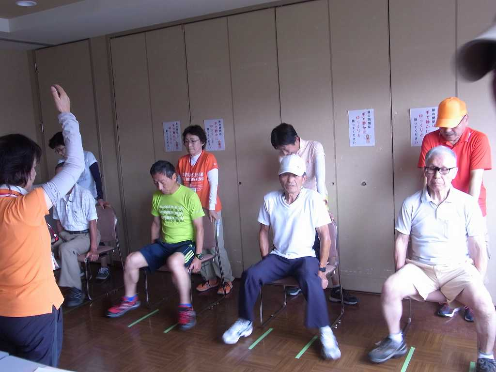 最後に座位ステッピング測定中の男性群