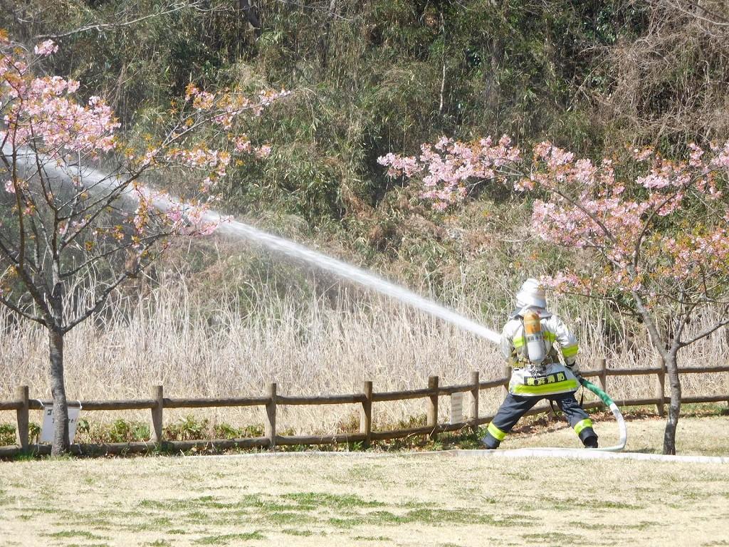 消防訓練中