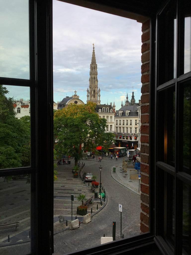 ホテルの窓からの眺めです