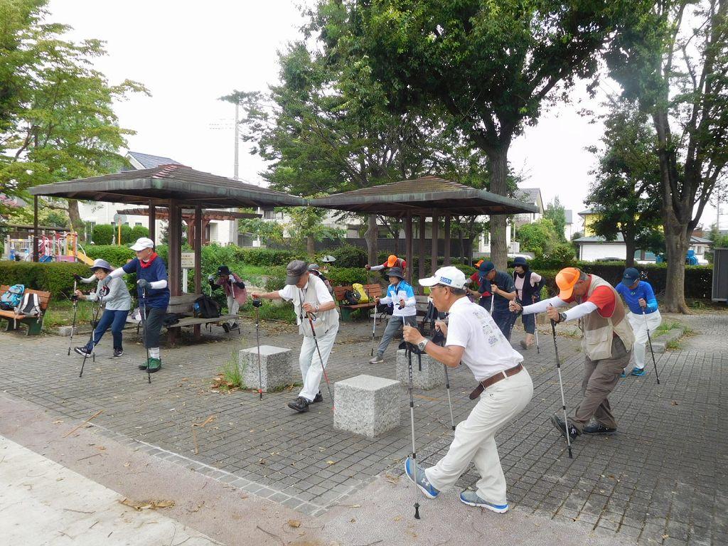 泉公園でクールダウン  市ヶ尾で昼食するグループも!!