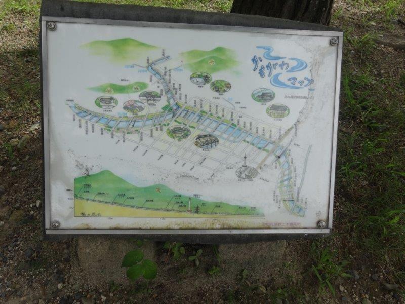 鴨川マップ 鴨川でのノルディックウォーキング コース確認