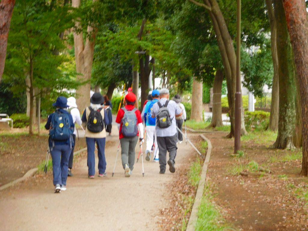 川和富士公園をスタート