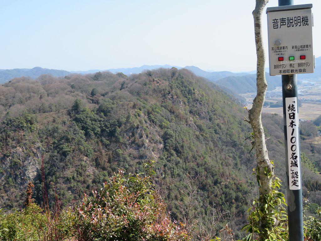 標高200mの新高山城