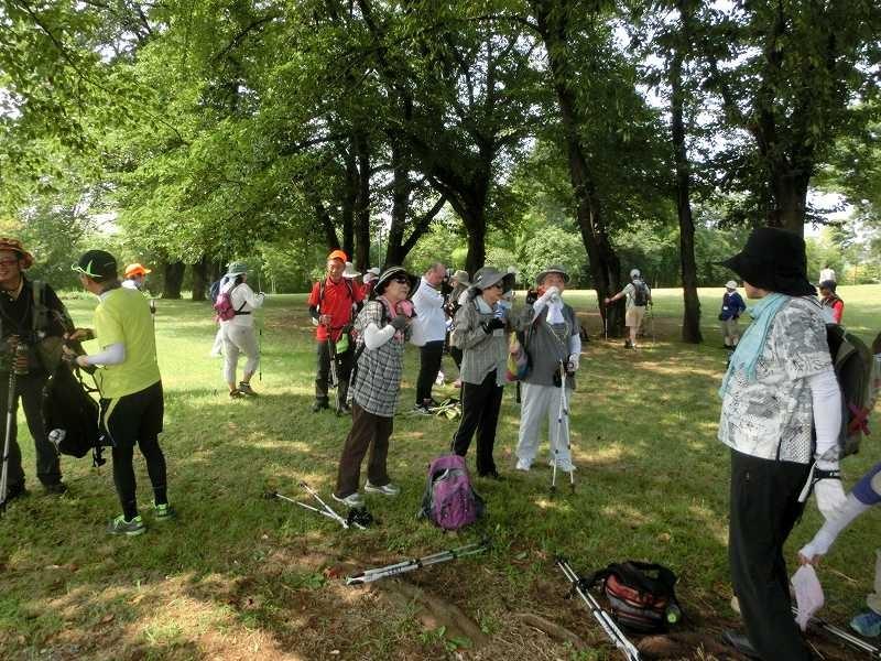 中川八幡山公園で休憩・水分補給・糖分・塩分補給