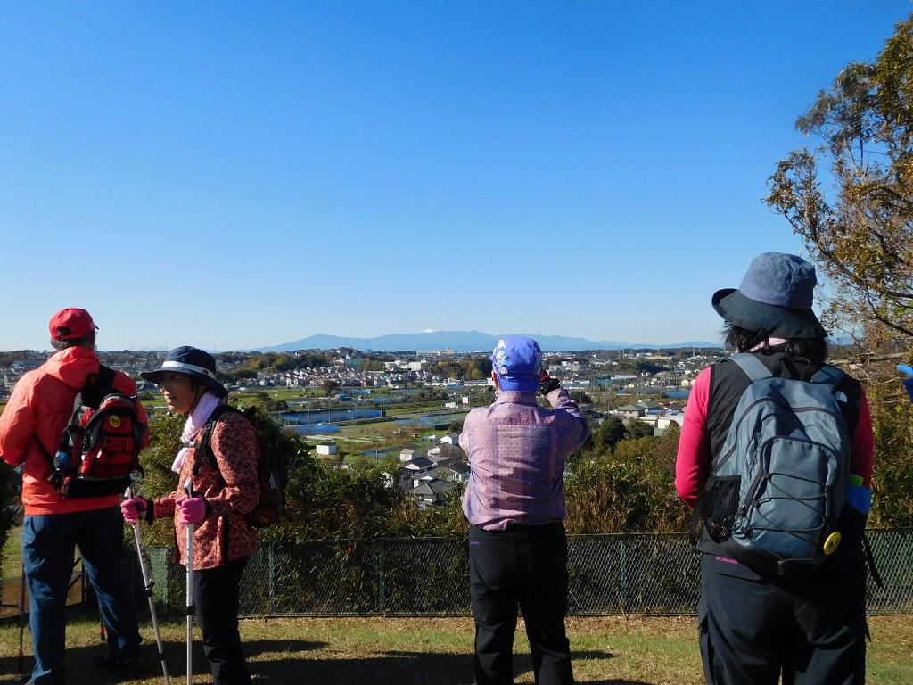 遠くに富士山が望めます 早速パチリ パチリと撮影タイムです