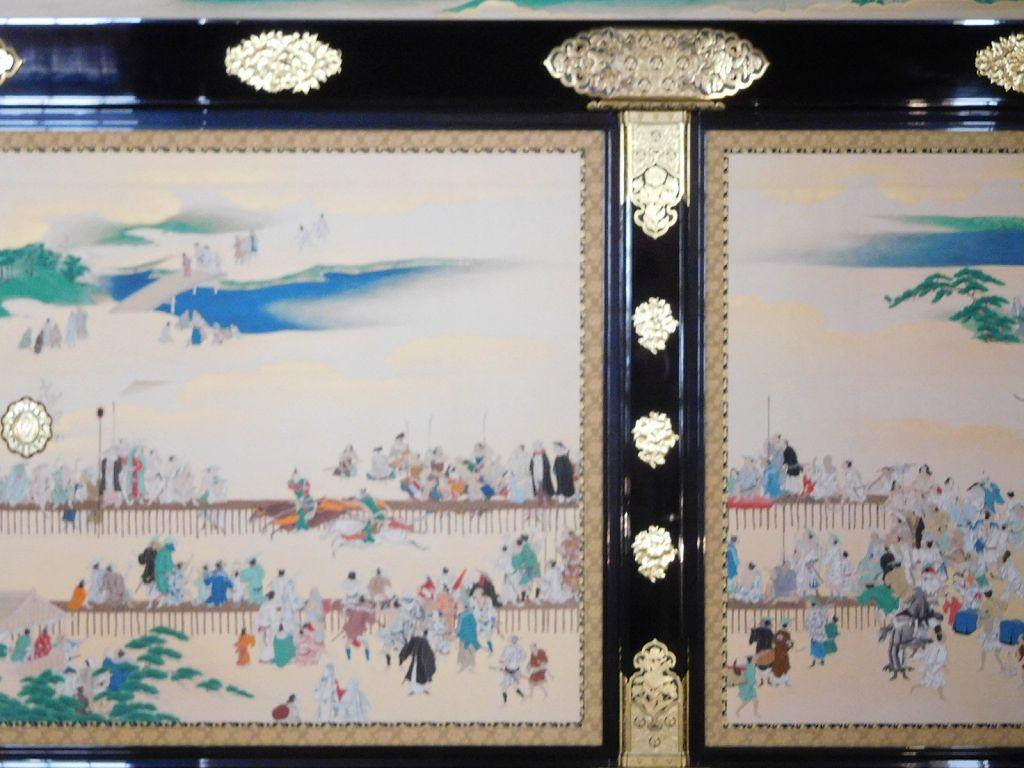 風俗画と呼ばれる京都・和歌山の四季の風物や名所が描かれた襖