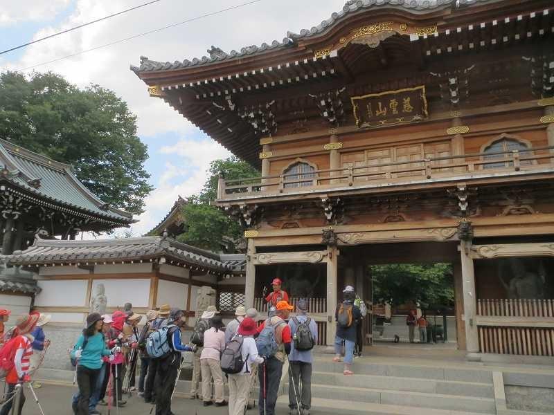江戸時代の旗本岡野家の菩提寺として建立された大林寺