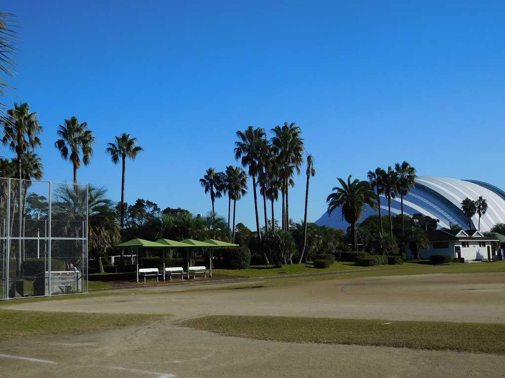 宮崎運動公園に到着 宮崎NWの皆さんと合流する