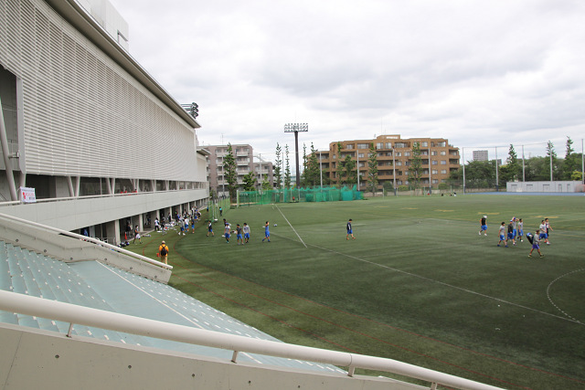日本体育大学のグランド