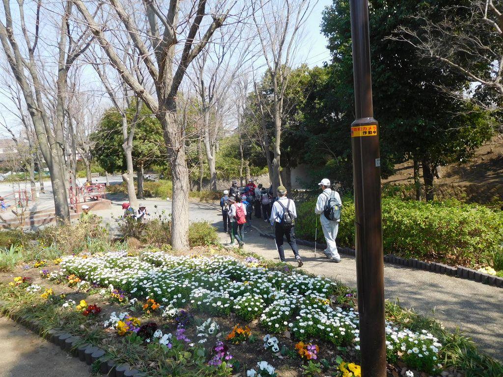見花山かりん公園の花壇も綺麗に手入れしてあります