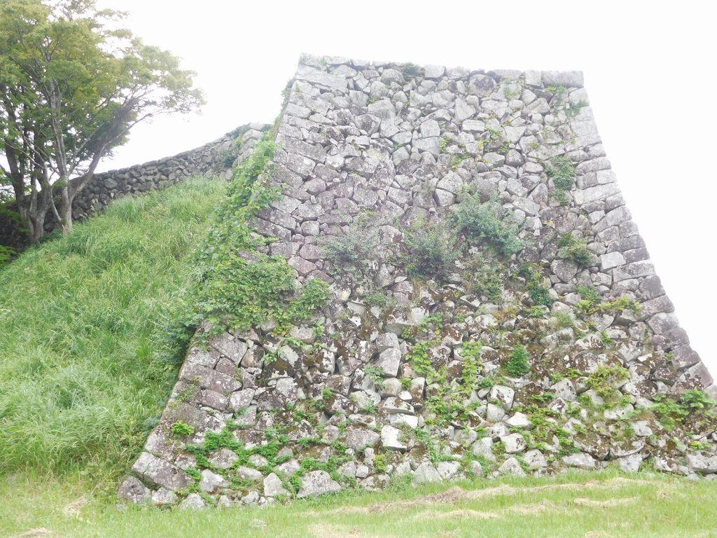 津和野城天守跡の城壁