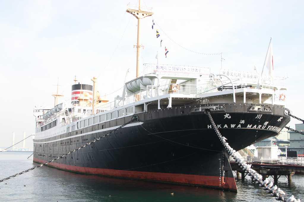 有名な日本郵船「氷川丸」見学者も大勢いました