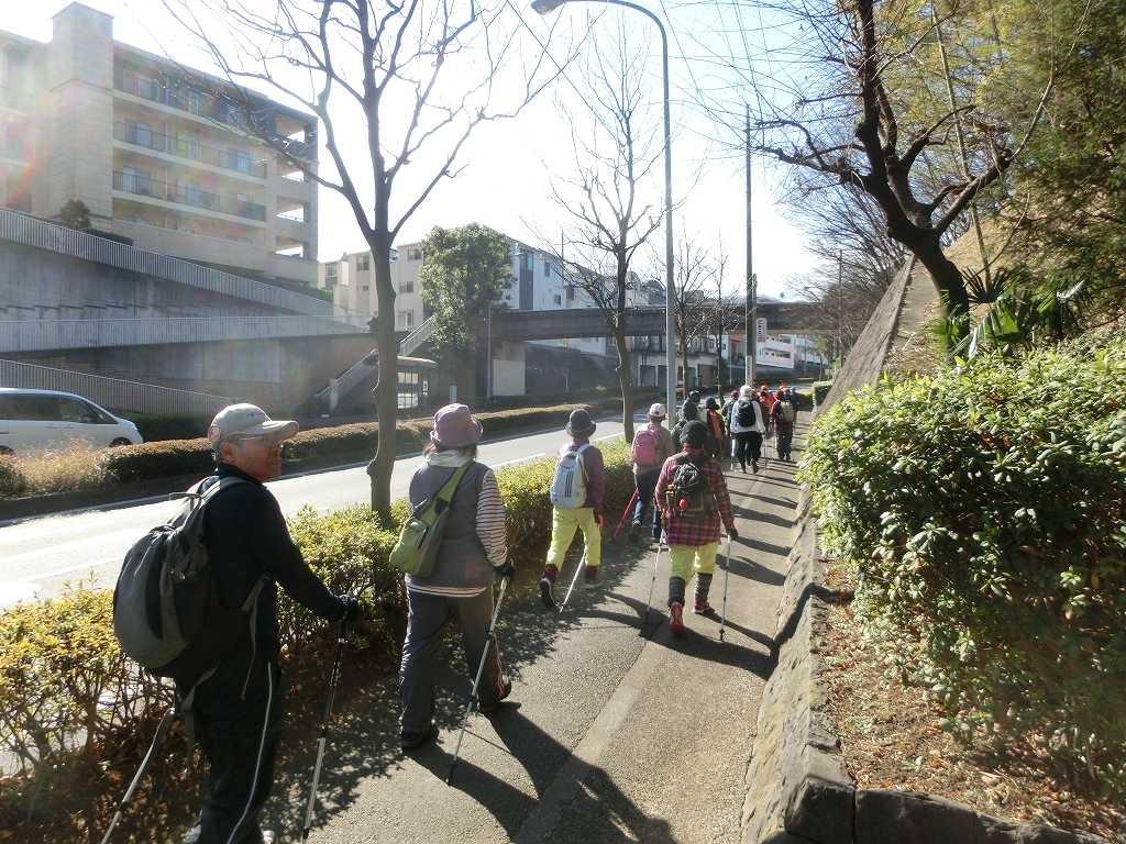 折田不動公園横通りをウォーキング