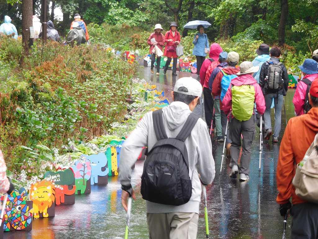 外周園路 横浜市内各地の小学生の手によって植えられた花々