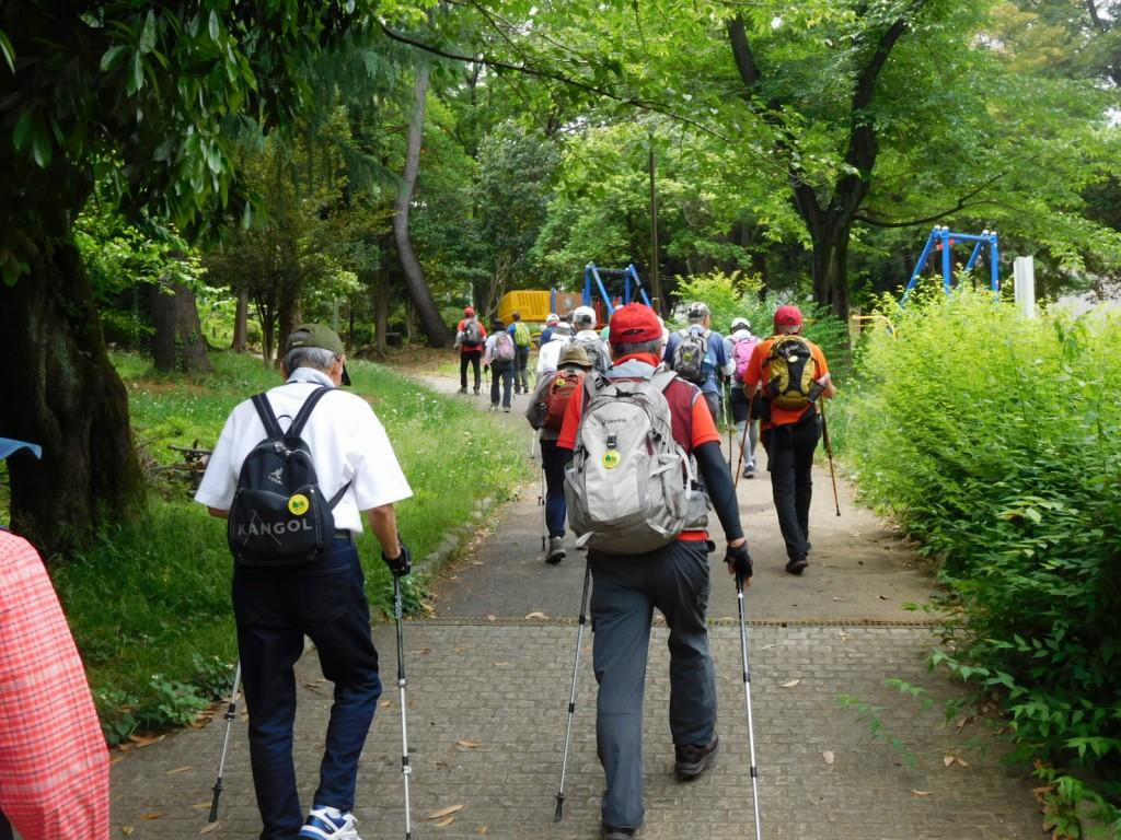 藤ヶ丘公園をスタート
