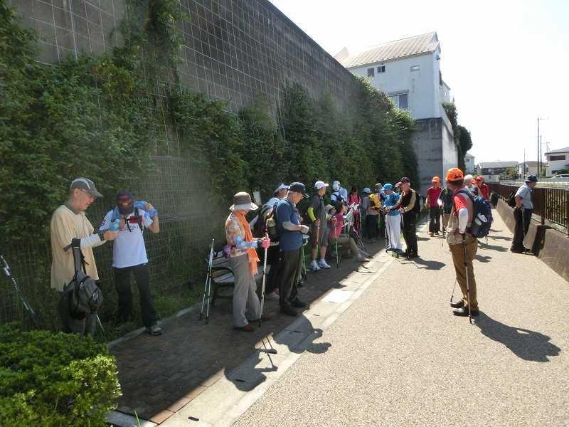黒須田川で列詰めの休憩