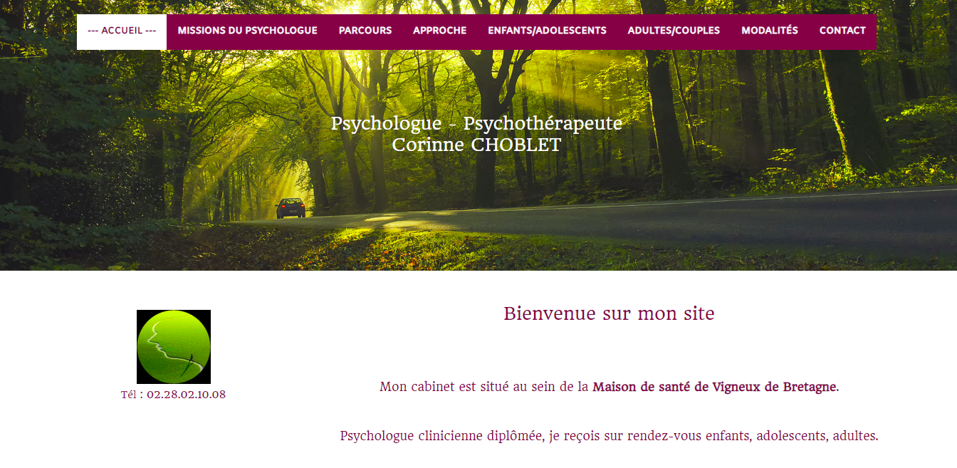 Photo site web pour la psychologue Corinne Choblet