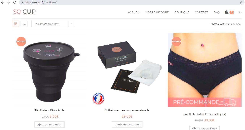 Photo site web pour la marque So' Cup