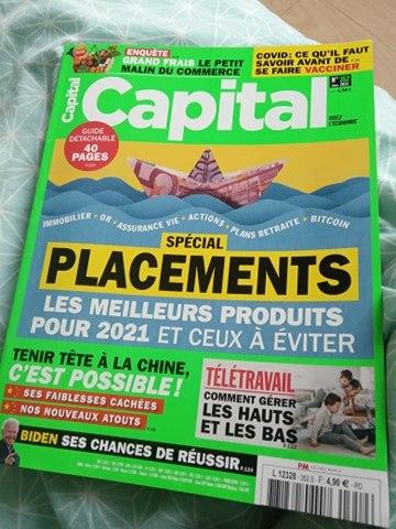 """Magazine CAPITAL - Edition Janvier 2021 - Rubrique """"Les entreprises du mois"""""""