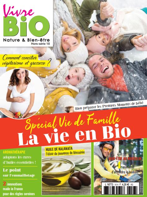 Publication magazine Vivre bio nature naturel hors série n°18 culotte menstruelle So cup