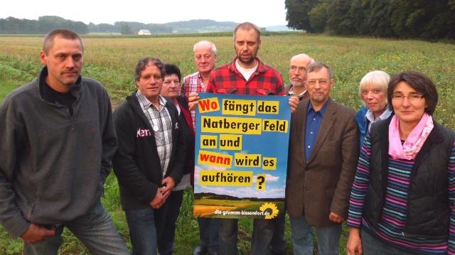 Vorstand der Grünen im landkreis Osnabrück im Natberger Feld
