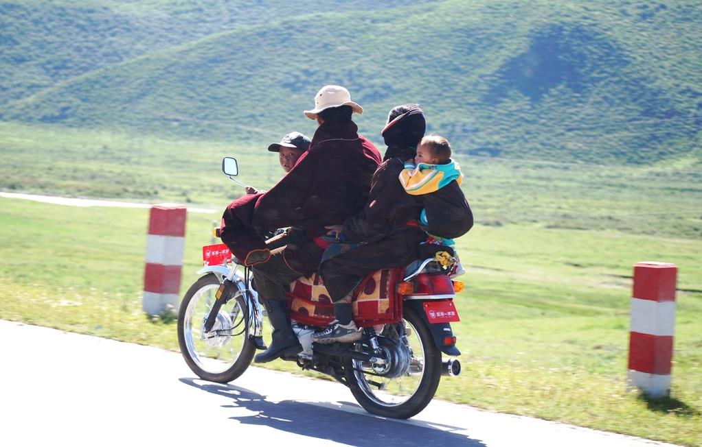 Famille tibétaine