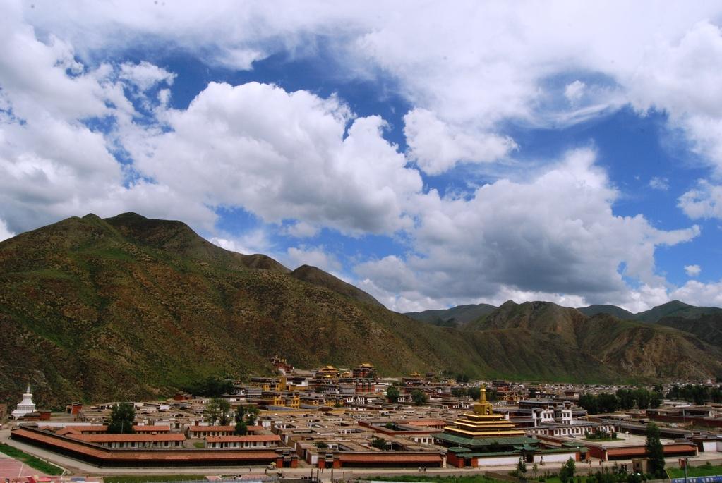 Vue d'ensemble sur le Monastère de Labrang