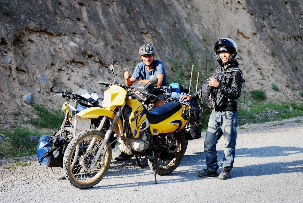 Rencontre d'un chinois en voyage à moto