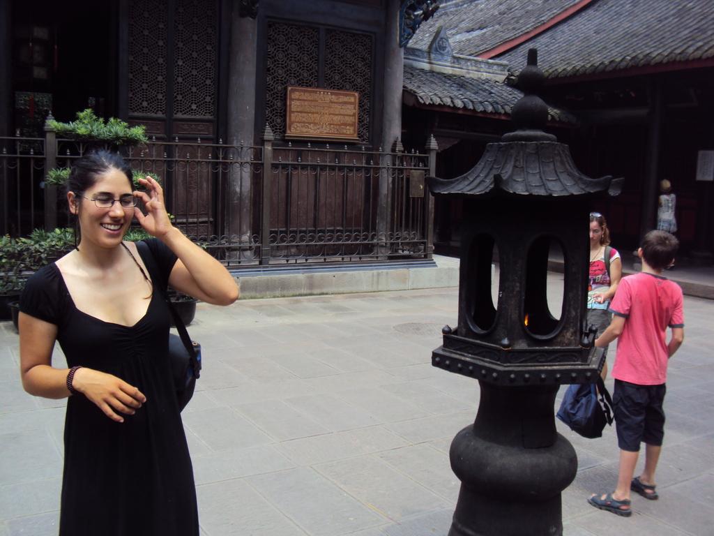 """Dans le """"Wenshu"""" temple à Chengdu"""