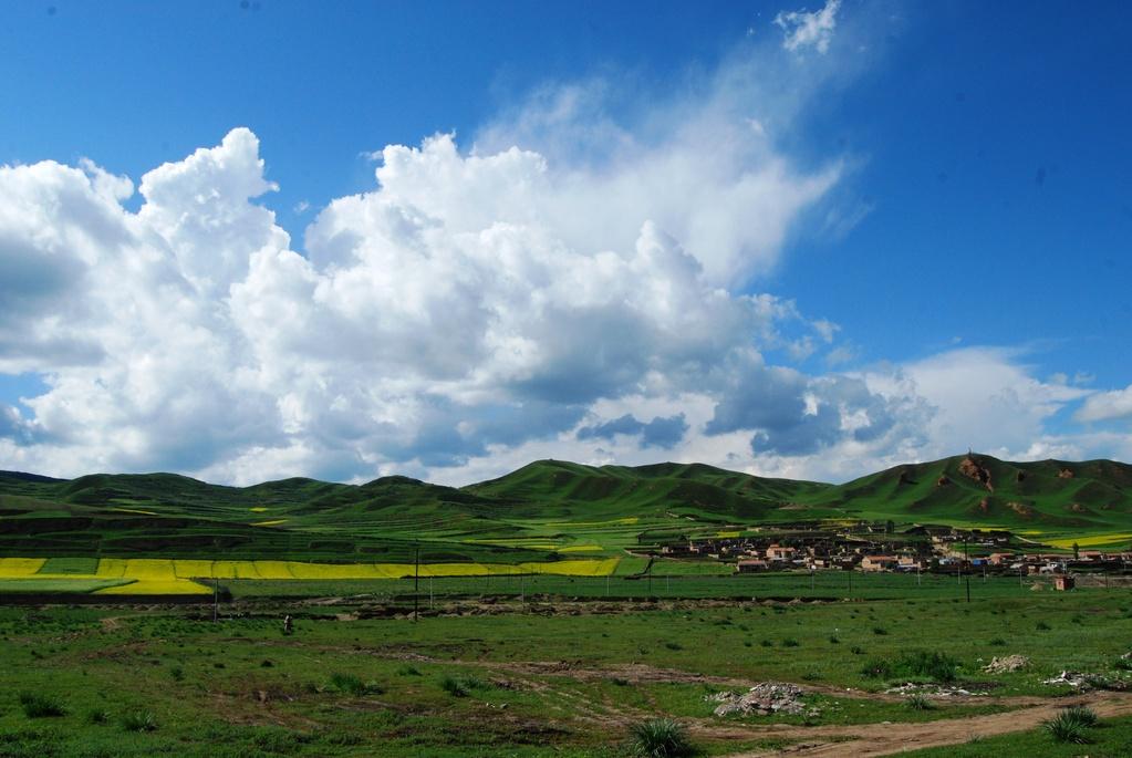 Prairies dans le Gansu