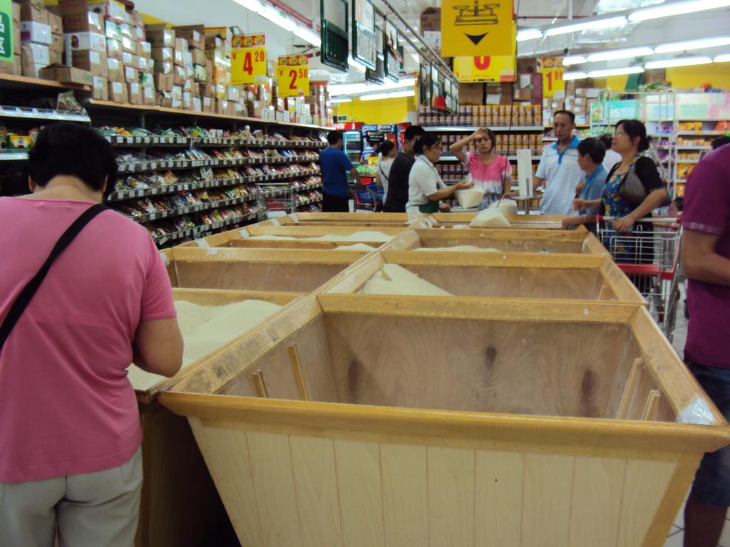 Le riz dans les supers-marchés