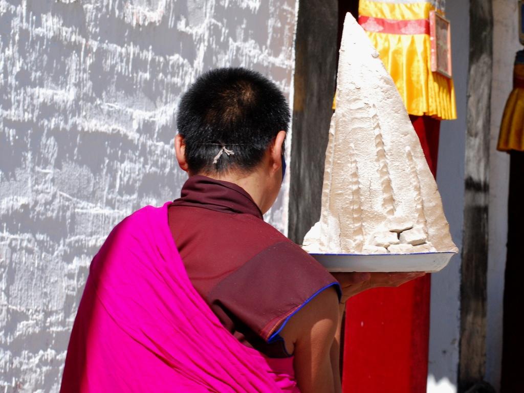 Pyramide en beurre de Yak pour la cérémonie
