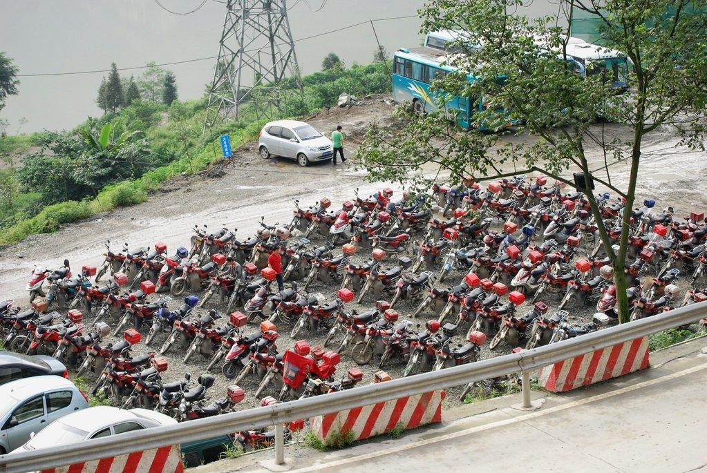 La moto, véhicule particulièrement utilisé en Chine