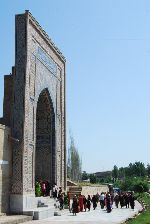 Entrée de la nécropole Shah-i-Zinda,
