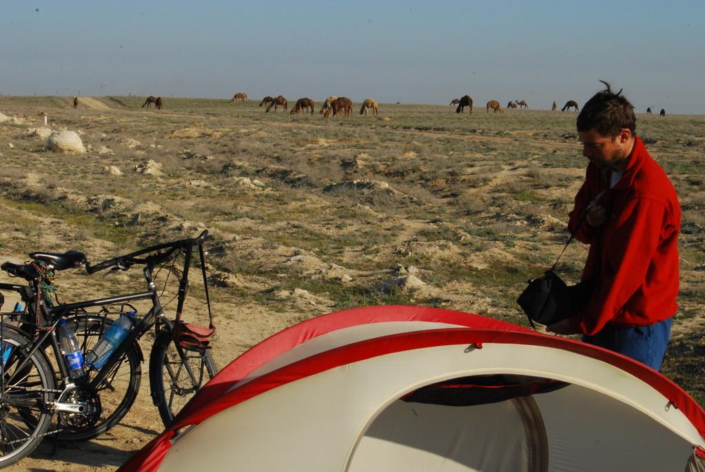 Notre 1er réveil dans la steppe