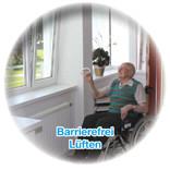 Auch vom Rollstuhl aus einfach selbst lüften können - mit WINFLIP und dem Reha-Ergogriff bis ins hohe Alter kein Problem!