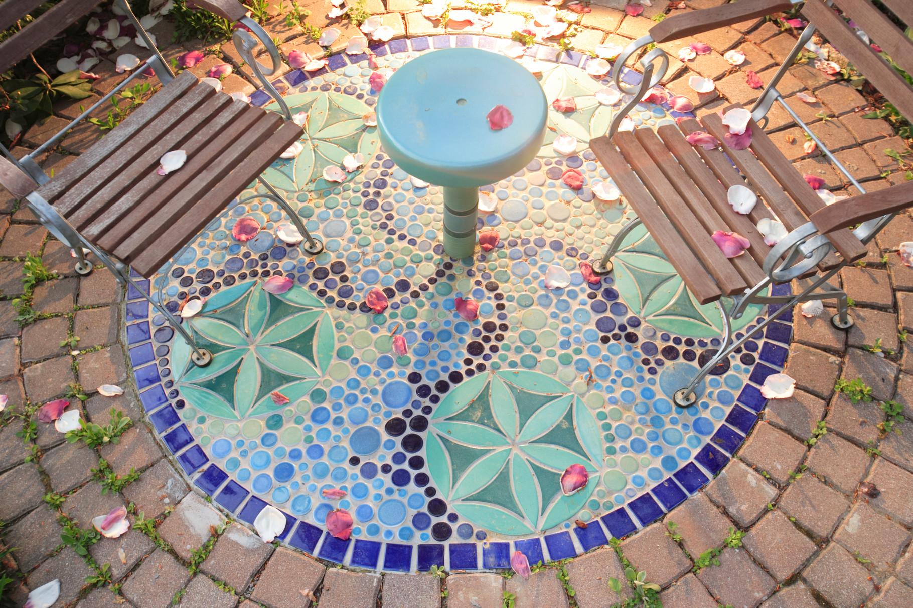 Mosaike Bodengestalltung