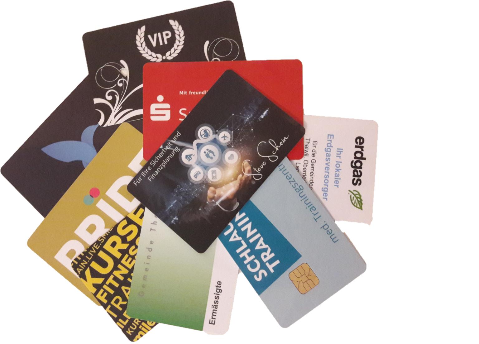 PVC RFID Karten ( Magnetkarten/ Chipkarten)