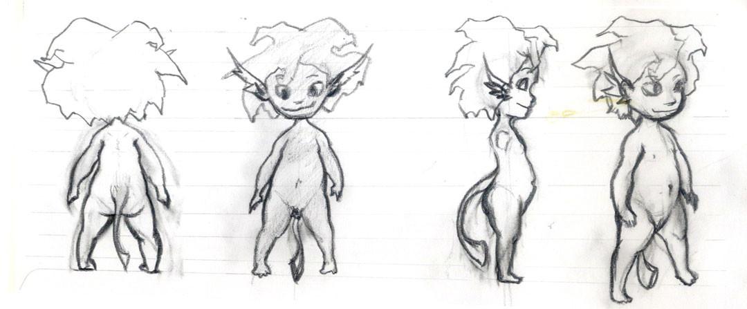 Character Design Sketch for Bastien