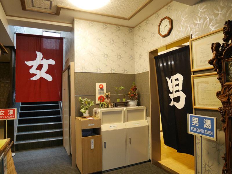 1階2階の浴室は日替わりで男女入れ替えとなっております。
