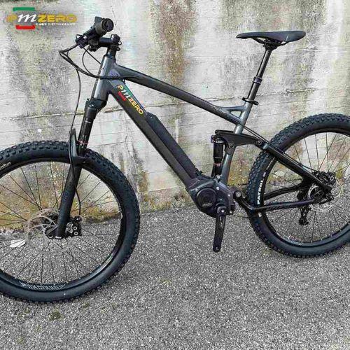 Ebike Pmzero modello Mountain bike full suspended con motore Polini Ep3