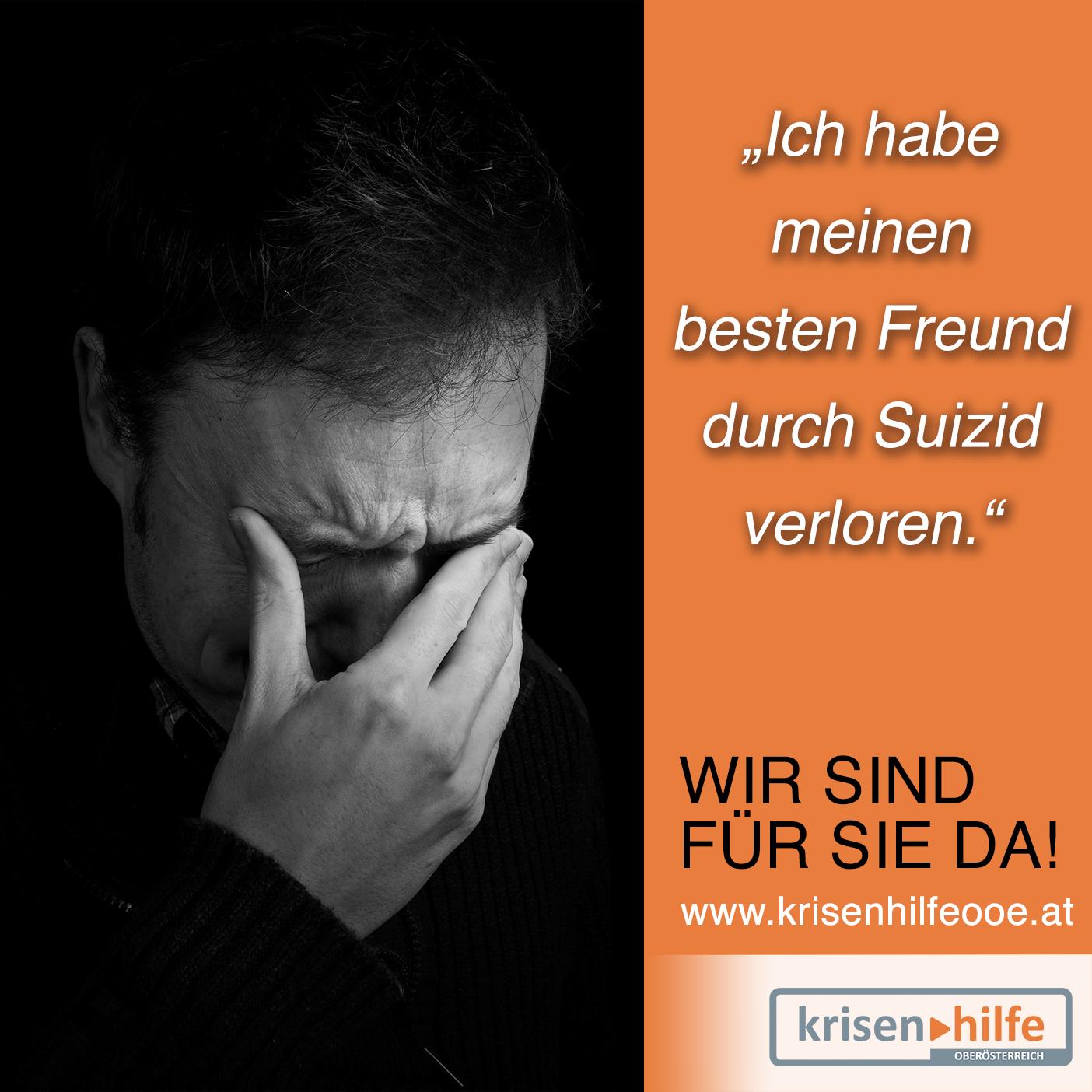 Rund 1200 Menschen nehmen sich jährlich in Österreich das Leben. Wussten Sie, dass es jedes Jahr 3-mal so viele Suizidopfer als Verkehrstote gibt?