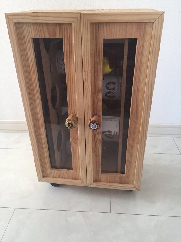 扉付きワイン保管庫